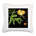 Columbia Lillies Square Canvas Pillo