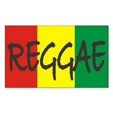 Reggae Sticker (Rectangular