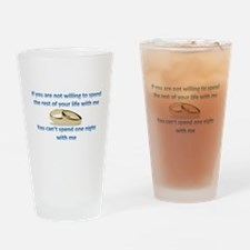 Commitment Drinking Glass