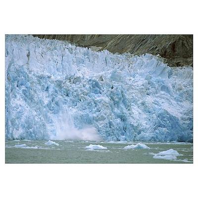 Dawes Glacier calving, Endicott Arm, Inside Passag Poster