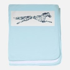 Leaping English Setter baby blanket