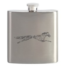 Leaping English Setter Flask