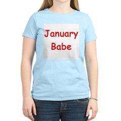 January Babe Women's Pink T-Shirt