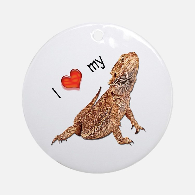 I luv my Bearded Dragon Ornament (Round)