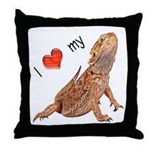 I luv my Bearded Dragon Throw Pillow