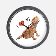 I luv my Bearded Dragon Wall Clock