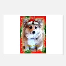 Too Cute Christmas Card with Red and Green Border