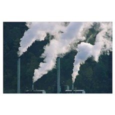 Emissions from coal plant, North America Poster