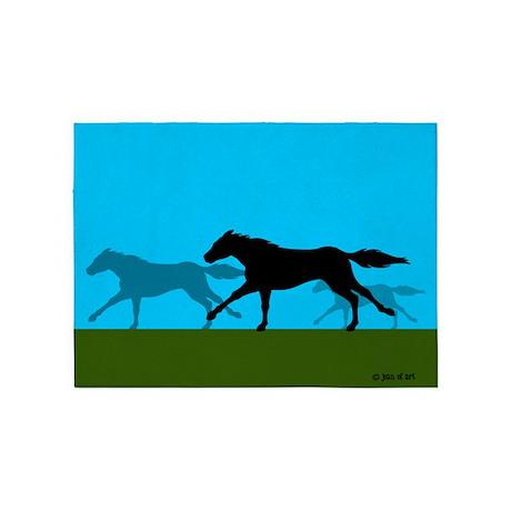 "Horse 5""x7"" Area Rug"