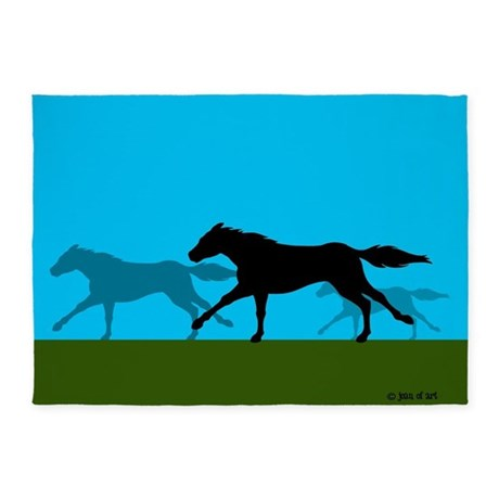 """Horse Racing 5""""X7"""" Area 5'x7'are"""