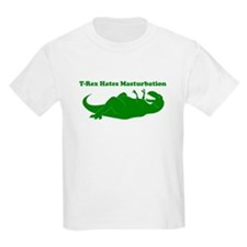 T-Rex Hates Masturbation T-Shirt