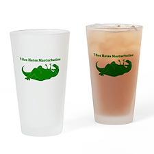 T-Rex Hates Masturbation Drinking Glass