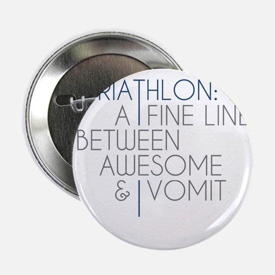 "Triathlon Awesome Vomit 2.25"" Button"