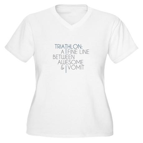 Triathlon Awesome Vomit Women's Plus Size V-Neck T