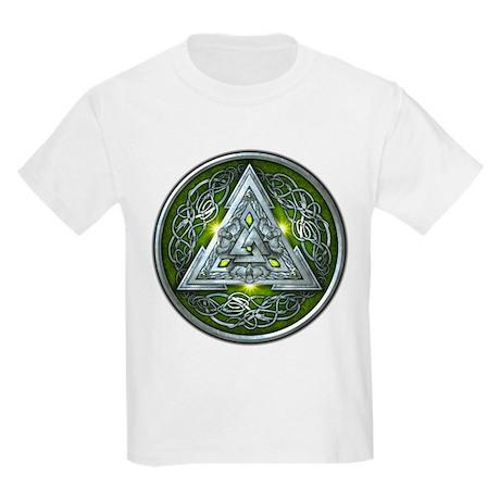 Norse Valknut - Green Kids Light T-Shirt