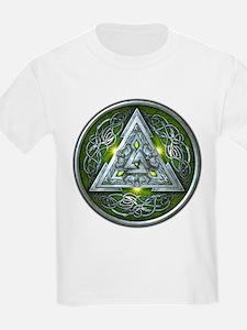 Norse Valknut - Green T-Shirt