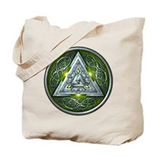 Norse Valknut - Green Tote Bag