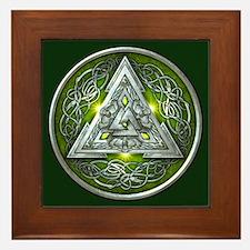 Norse Valknut - Green Framed Tile