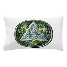 Norse Valknut - Green Pillow Case