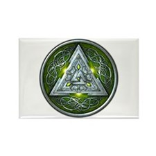 Norse Valknut - Green Rectangle Magnet