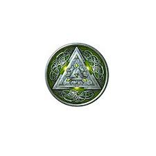 Norse Valknut - Green Mini Button