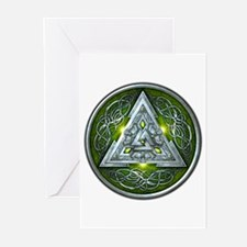 Norse Valknut - Green Greeting Cards (Pk of 20)