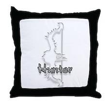 Hunter Logo Throw Pillow