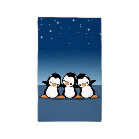 Penguins (together) 3'x5' Area Rug