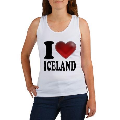 I Heart Iceland Women's Tank Top