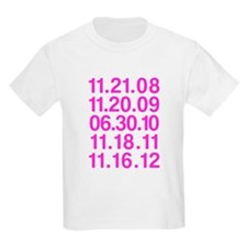 Twilight Opening Dates Kids Light T-Shirt