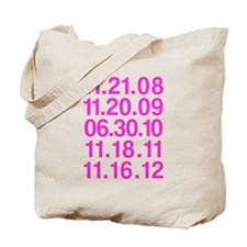 Twilight Opening Dates Tote Bag