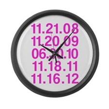 Twilight Opening Dates Large Wall Clock