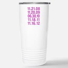 Twilight Opening Dates Stainless Steel Travel Mug