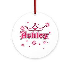 Ashley Princess Crown Star Ornament (Round)