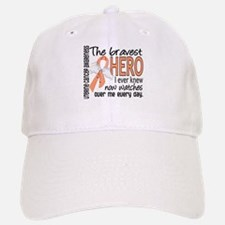 Bravest Hero I Knew Uterine Cancer Baseball Baseball Cap