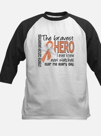 Bravest Hero I Knew Uterine Cancer Kids Baseball J