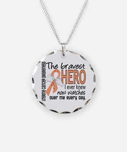 Bravest Hero I Knew Uterine Cancer Necklace