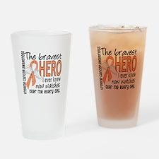 Bravest Hero I Knew Uterine Cancer Drinking Glass