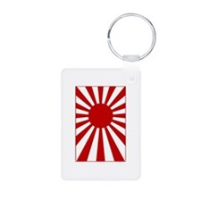 Rising Sun Flag 3 Aluminum Photo Keychain
