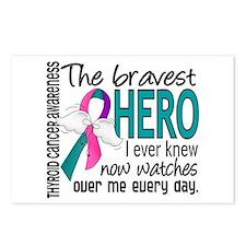 Bravest Hero I Knew Thyroid Cancer Postcards (Pack
