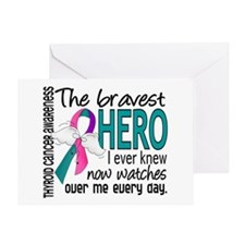 Bravest Hero I Knew Thyroid Cancer Greeting Card