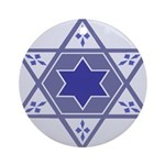 Blue Star Of David Hanukkah Ornament