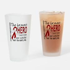 Bravest Hero I Knew Stroke Drinking Glass