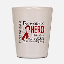 Bravest Hero I Knew Stroke Shot Glass