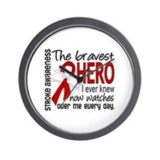 Bravest Hero I Knew Stroke Wall Clock
