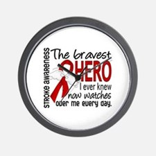 Bravest Hero I Knew Stroke Wall Clock