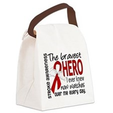 Bravest Hero I Knew Stroke Canvas Lunch Bag