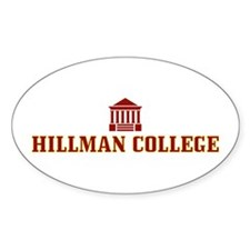 Hillman College Oval Decal