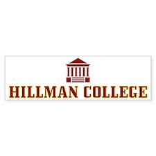 Hillman College Bumper Bumper Sticker