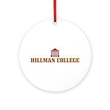 Hillman College Ornament (Round)
